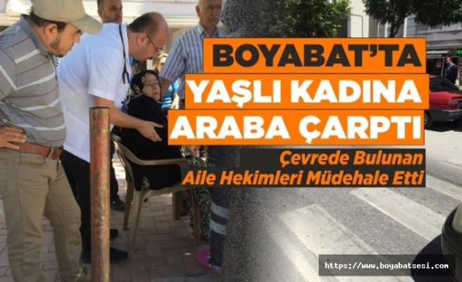 Adnan Menderes Bulvarında Yaşlı Kadına Otomobil Çarptı