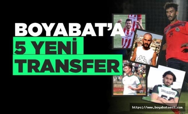 Boyabat'a 1868 Spor'a 5 transfer birden