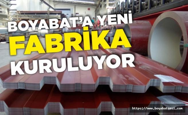 Boyabat'a yeni fabrika kuruluyor