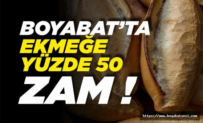 Boyabat'ta ekmeğe zam geldi !