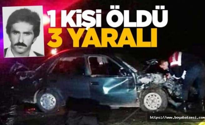 Kazada sürücü hayatını kaybetti, 3 yaralı