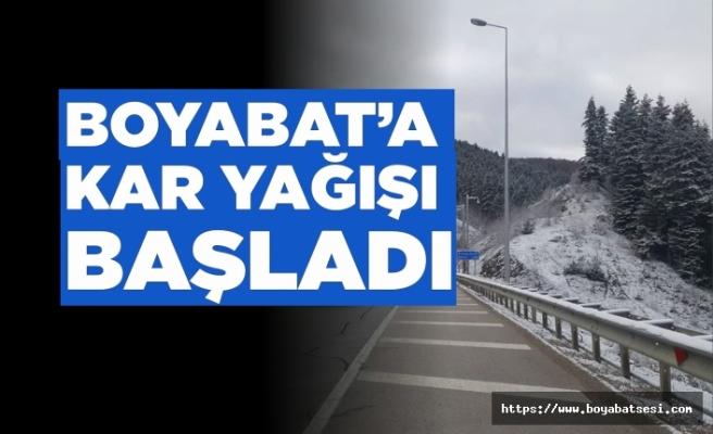 Boyabat'ta Kar Yağışları Başladı