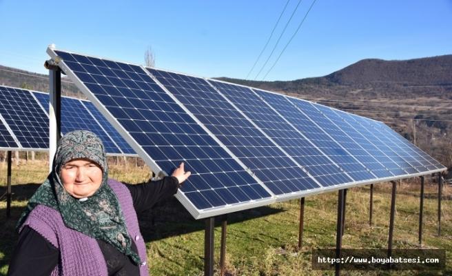 Kezban Teyze'nin güneş enerji santrali