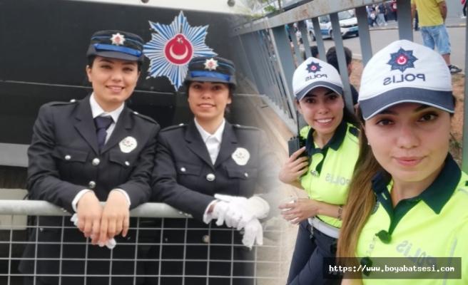 Sinoplu abla-kardeş aynı şehirde trafik polisi olarak görev yapıyor
