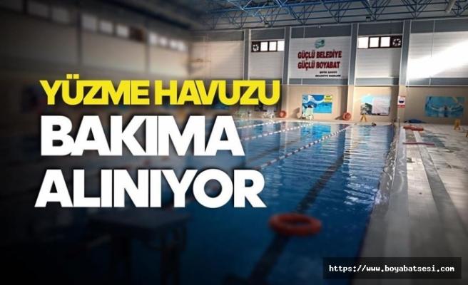 Yarı Olimpik Yüzme Havuzu Bakıma Alınıyor