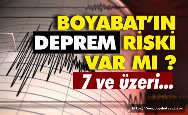 Boyabat'ta deprem bekleniyor mu ?