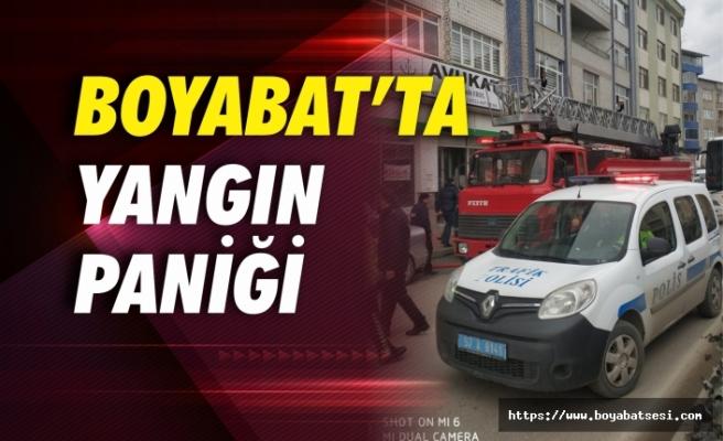 Boyabat'ta yangın paniği