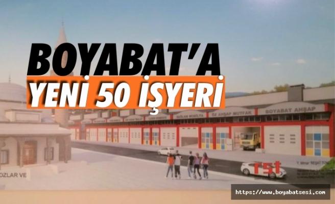 Boyabat'ta Yeni 50 İş Yeri İnşa Edilecek