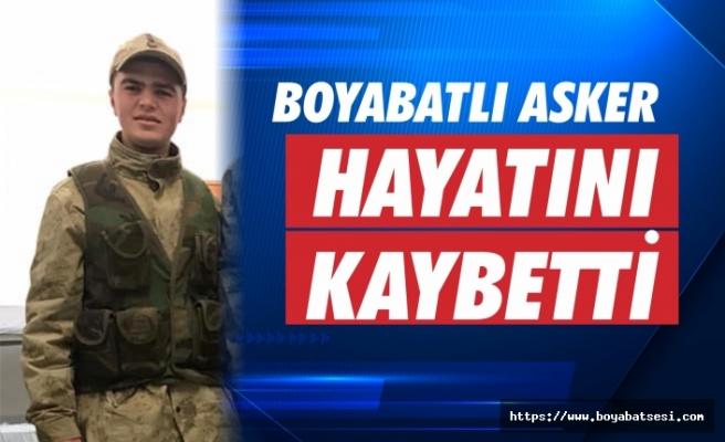 Boyabatlı Asker Hayatını Kaybetti