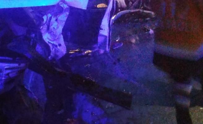 Boyabat Sinop yolunda feci kaza çok sayıda yaralı var