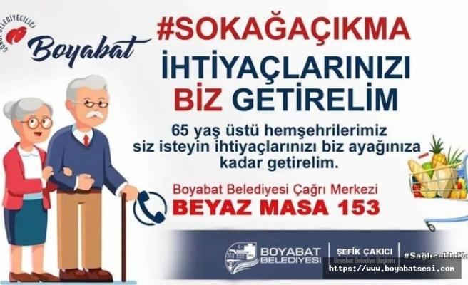 Boyabat'ta 65 yaş üzeri vatandaşların alışverişlerini belediye yapacak