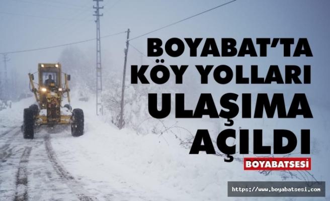 Boyabat'ta köy yolları ulaşıma açıldı