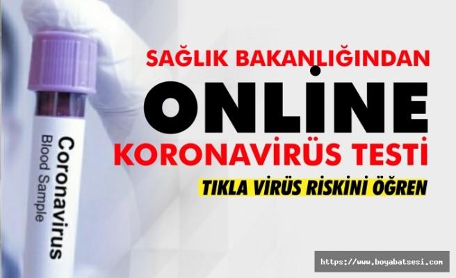 İnternetten Korona virüs testi nasıl yapılır ?