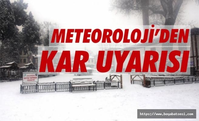 Kuvvetli kar uyarısı yapıldı