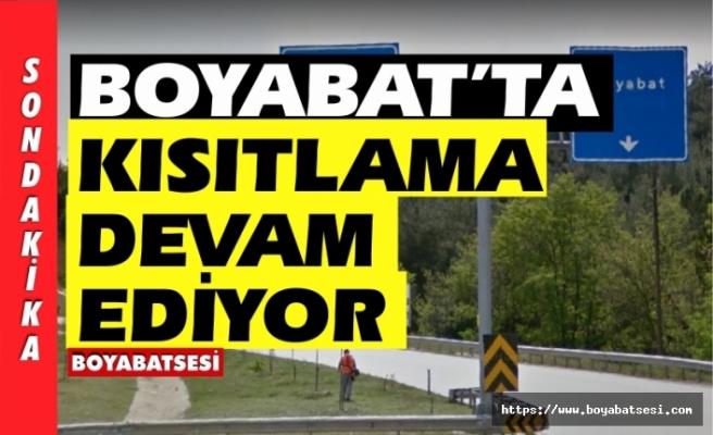 Boyabat,Saraydüzü,Durağan'da kısıtlama devam ediyor !