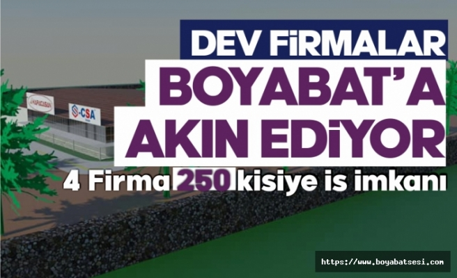30 Ülkeye ihracat yapan dev firma Boyabat'a fabrika kuruyor