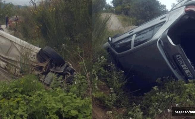 Alibey Köyü sapağında trafik kazası