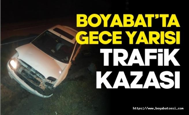 Boyabat'ta gece yarısı trafik kazası