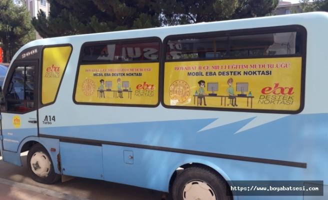 Okul Minibüsünü GeziciMobil EBA Destek Noktası yaptılar