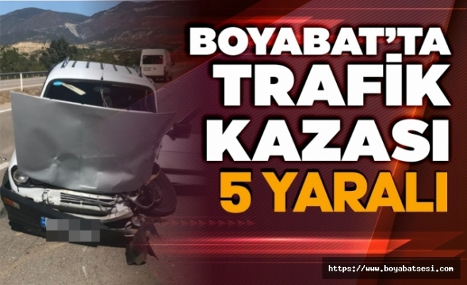 Boyabat'ta trafik kazası 5 yaralı !
