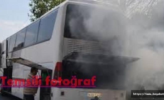 Dranaz Tünelinde Hareket Halindeki Otobüsten Dumanlar Çıkınca ..