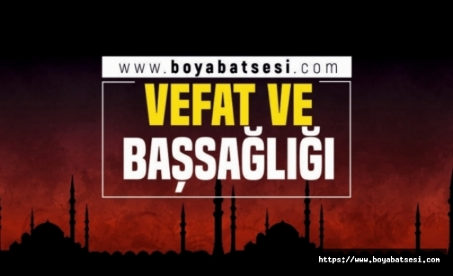 Merhum Kasap Hasan Cömert'in Eşi Fatma Cömert Vefat Etti
