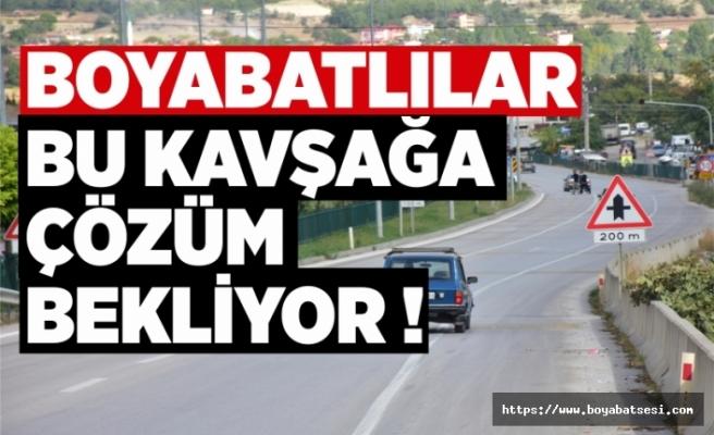 Boyabat'ta kaza kavşağı çözüm bekliyor !