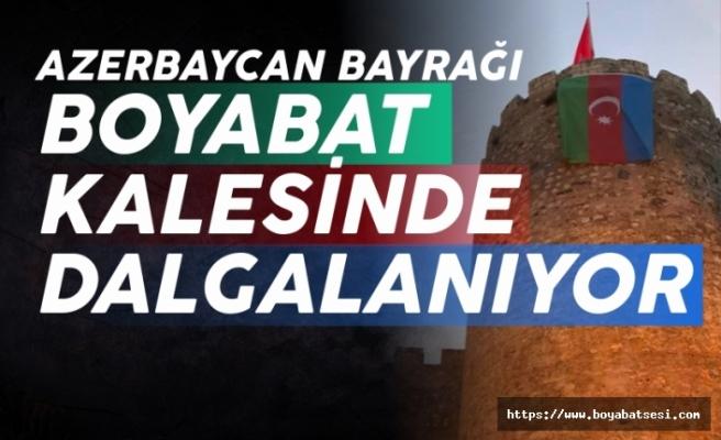 Boyabat'tan Azerbaycan'a bayraklı destek
