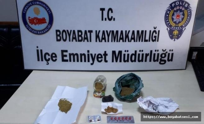 Boyabat İlçe Emniyet Müdürlüğünden uyuşturucu operasyonu