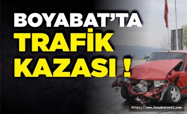 Boyabat Karacaören'de trafik kazası !