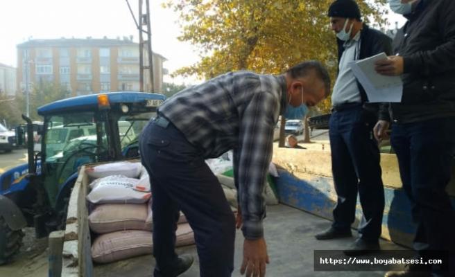 Boyabat'ta çiftçilere hibe tohum dağıtıldı