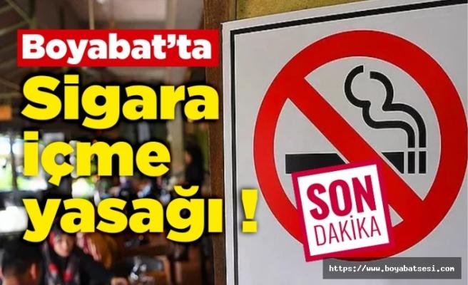 Boyabat'ta sigara yasağı,İşte yasaklı caddeler