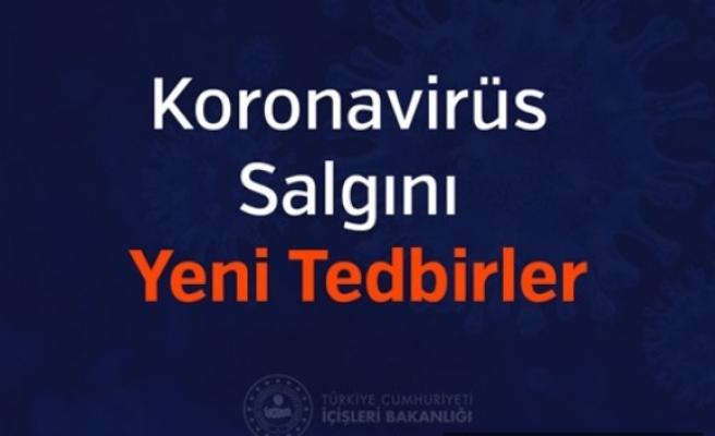 İçişleri Bakanlığından Koronavirüs Salgını Yeni Tedbirleri