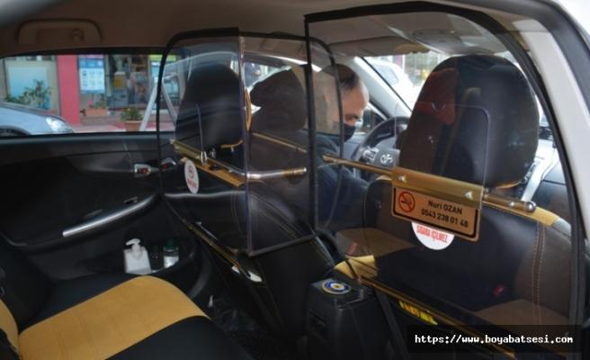 Koronaya karşı ilk 'kabinli taksi' uygulaması