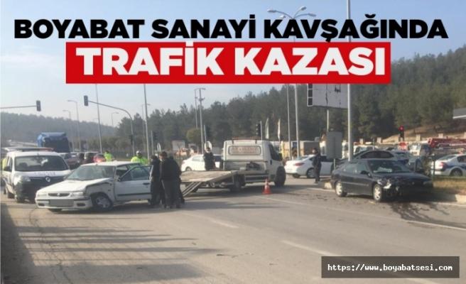 Boyabat'ta trafik kazası !