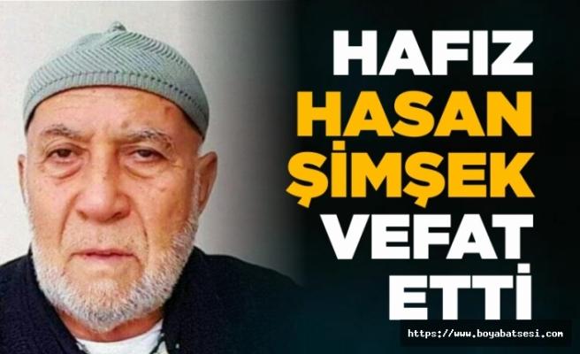 Kemaldede Cami emekli imamı Hafız Hasan Şimşek vefat etti