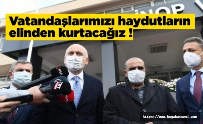 Bakan Adil Karaismailoğlu Sinop'tan seslendi