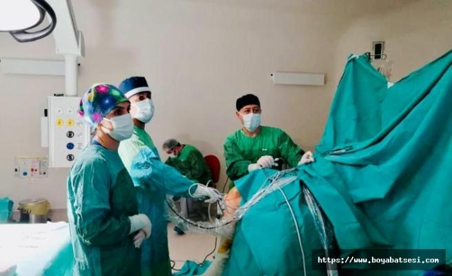 Ayancıkta Artroskopi ile omuz ve diz ameliyatları yapılmaya başlandı