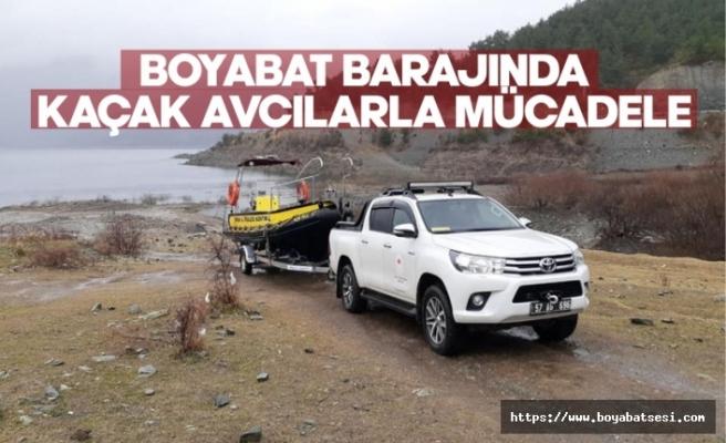 Boyabat Barajında kaçak avcılıkla mücadele