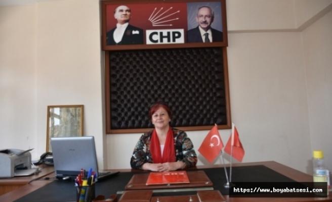 Boyabat Chp Kadın Kollarından basın açıklaması