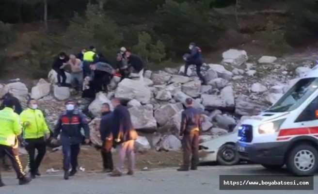 Boyabat Kastamonu yolunda kaza 1 ölü, 1 yaralı