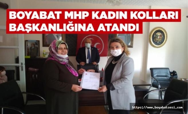 Boyabat Mhp Kadın Kolları Başkanlığına Meliha Teke atandı