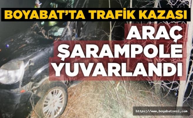 Boyabat'ta kaza 2 yaralı !