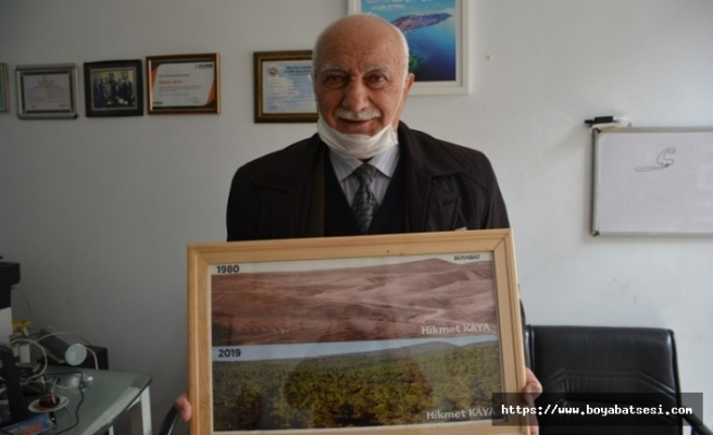 Boyabat'ta 25 sene ağaçlandırma şefliği yaptı