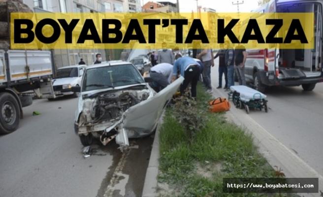 Boyabat'ta trafik kazası 1 yaralı