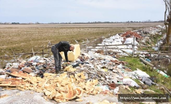 Çeltik tarlasına hafriyat döktüler, çiftçi tepki gösterdi