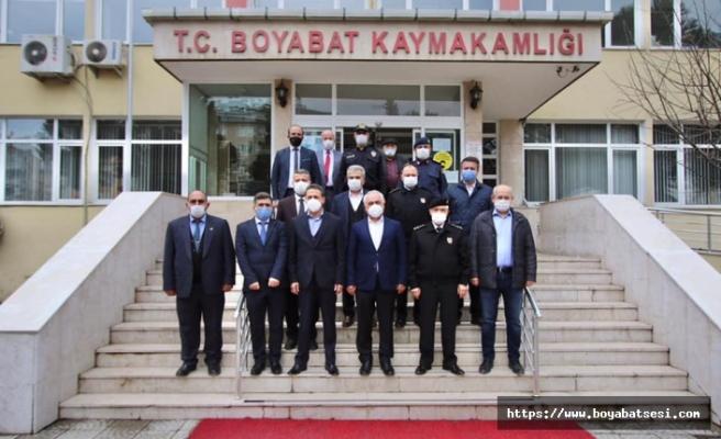 İçişleri Bakan Yardımcısı Mehmet Ersoy Boyabat'ta incelemelerde bulundu
