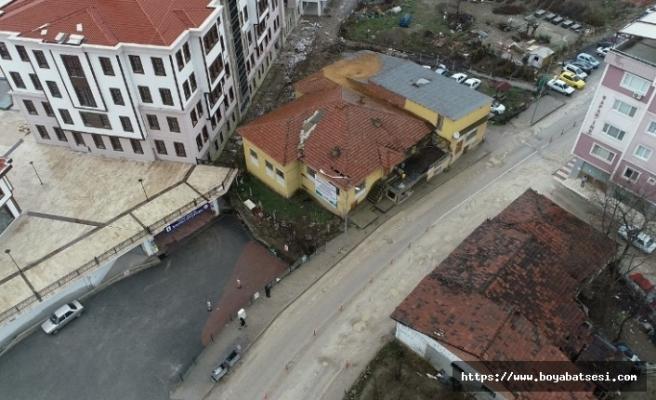 Boyabat'ta Çeltik fabrikası yıkım çalışmaları başladı