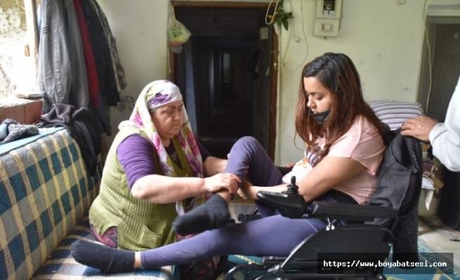 Sinop'ta 28 yaşındaki genç kız yürüyebilmek için yardım bekliyor