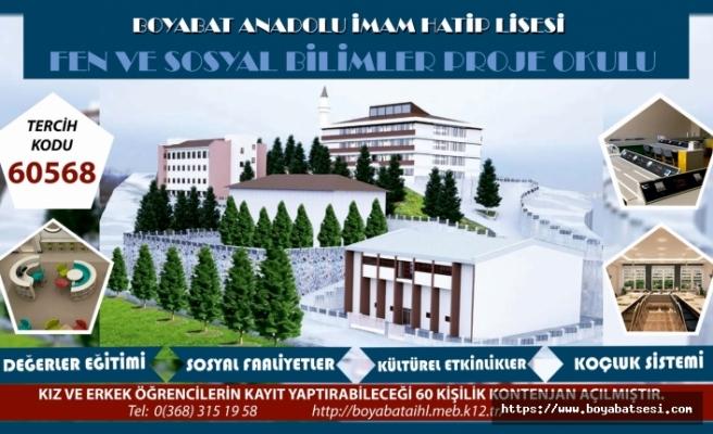Boyabat Anadolu İmam Hatip Lisesi'nden duyuru